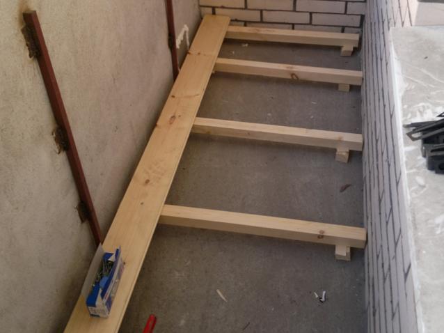 Балкон деревянный пол своими руками