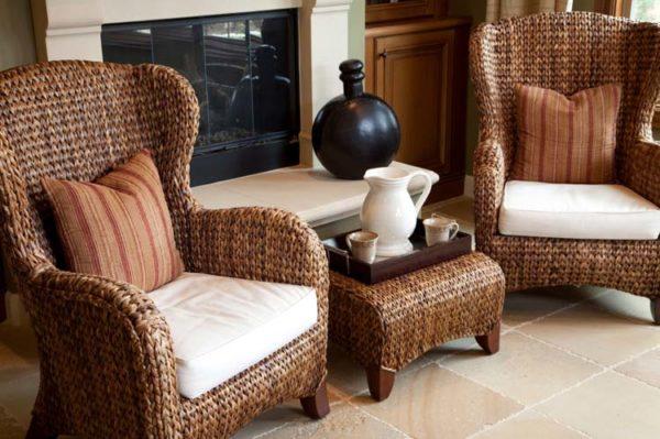 Мебель из ротанга наполняет пространство непередаваемой атмосферой