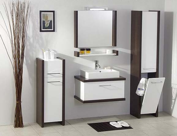 Ванная мебель потрескалась дизайн d ванных комнат