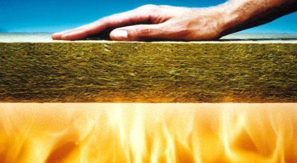 Минеральная вата может остановить распространение пламени.