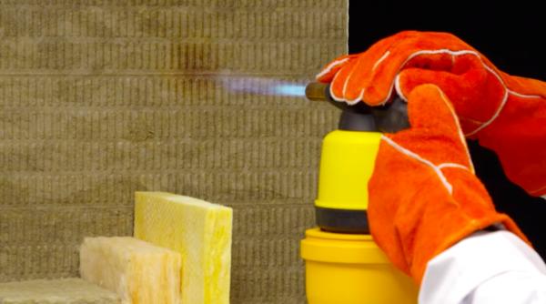 Минераловатный базальтовый утеплитель относится к категории негорючих материалов.