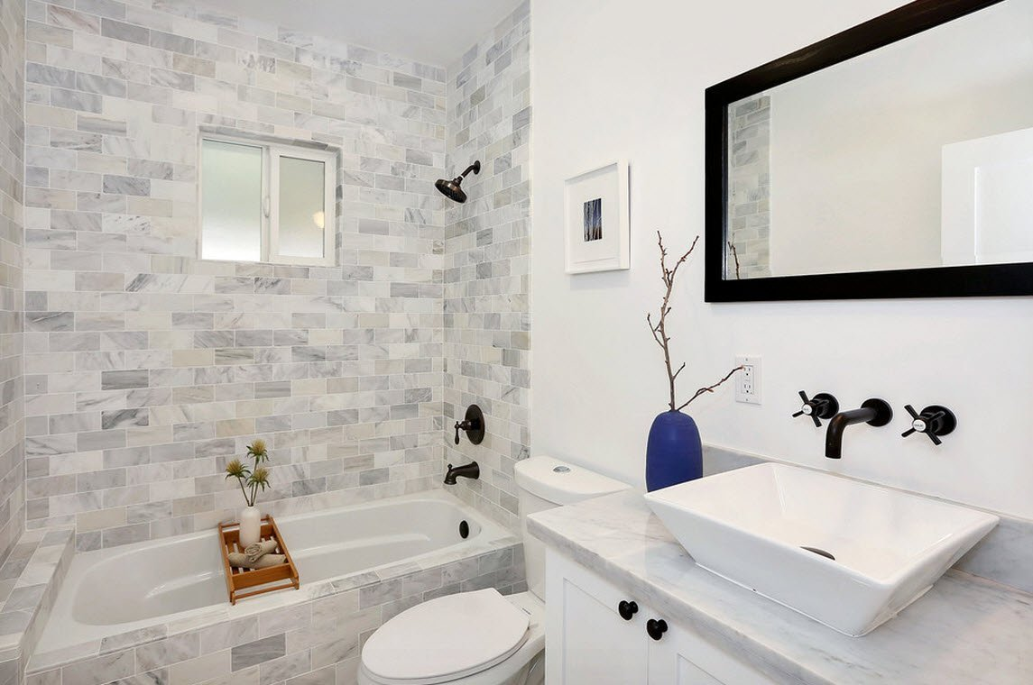 Модные дизайны маленьких ванных комнат