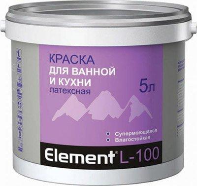 На фото – латексная краска для ванной комнаты.
