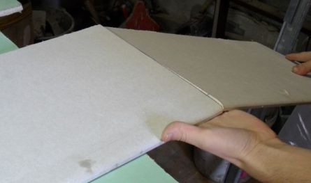 Надламываем лист после разреза.