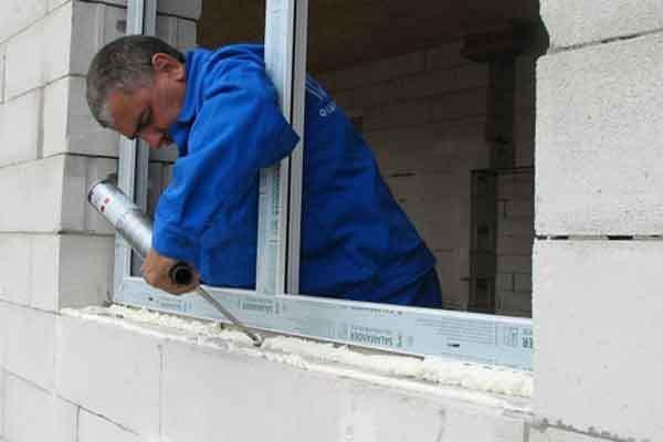 Установка окон пвх в доме из газобетона