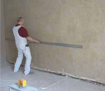 Неровности стены лучше всего проверять с помощью правила