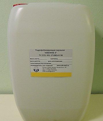 Образец гидрофобизатора «АКВАФОБ-Э»