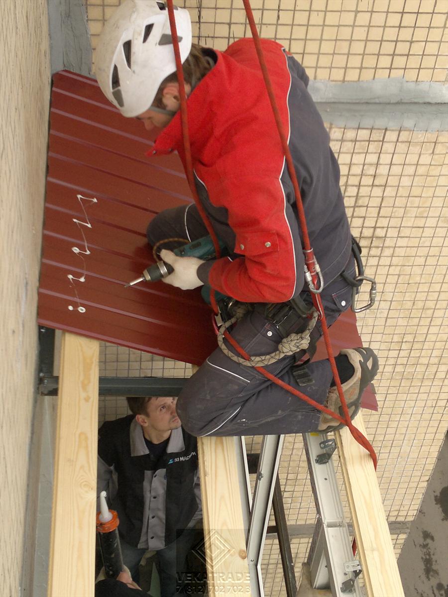 Крыша на балкон на последнем этаже: инструкция как сделать с.