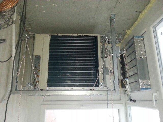 Установка внешнего блока кондиционера на лоджии со сплошным остеклением про установку кондиционера