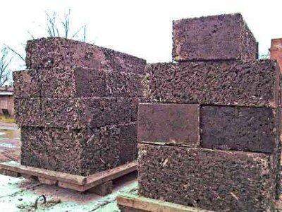 Опилко-бетонные блоки.