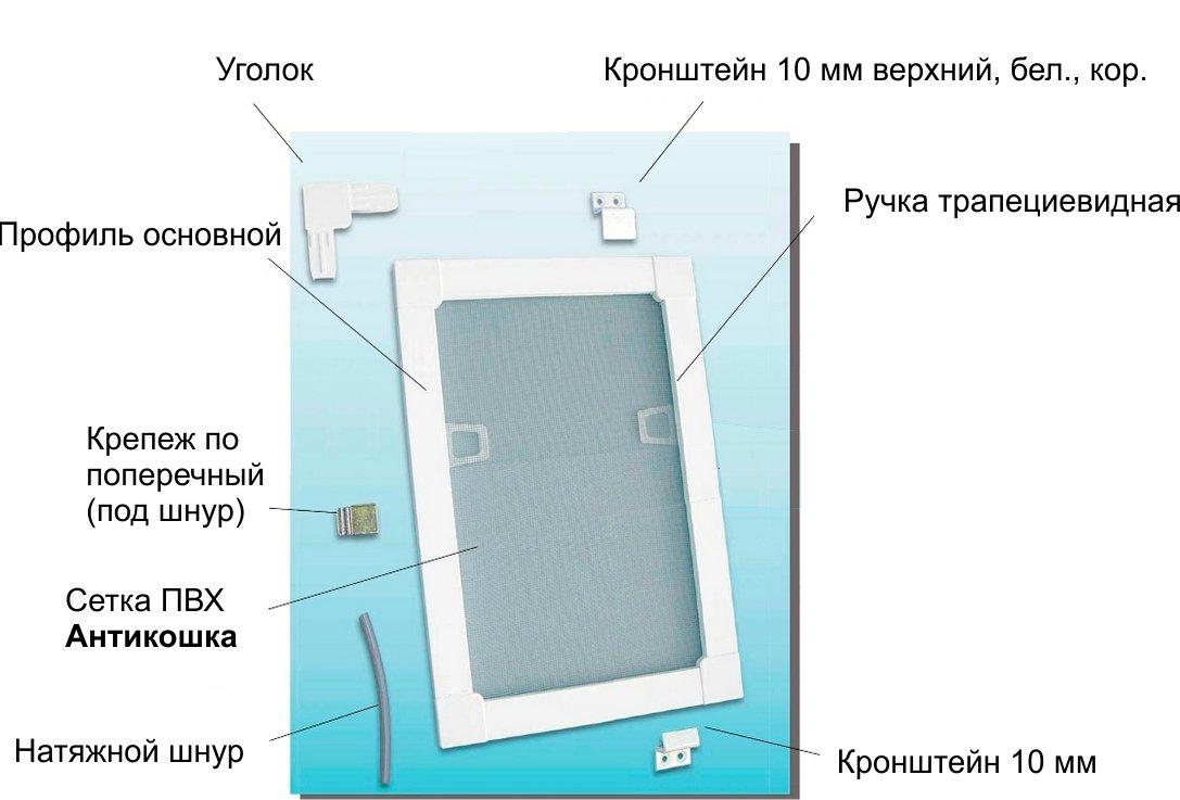 Как крепить москитную сетку на пластиковое окно: 4 способа у.