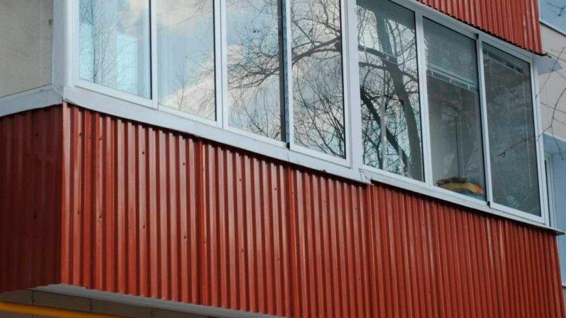 Обшивка балконов профнастилом своими руками