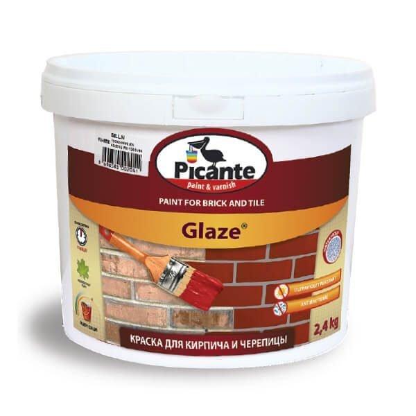 Отделочный материал для стен - краска для кирпича и черепицы Glaze