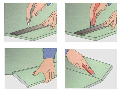 Отломив лист, нужно разрезать крафт-бумагу с тыльной стороны.