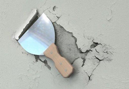Отслаивающиеся поверхности необходимо удалить