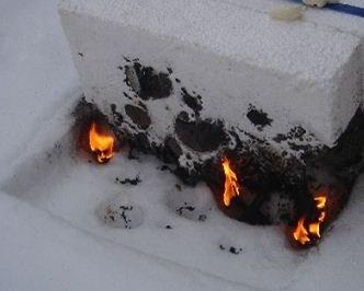 Пенопласт подвержен огню!