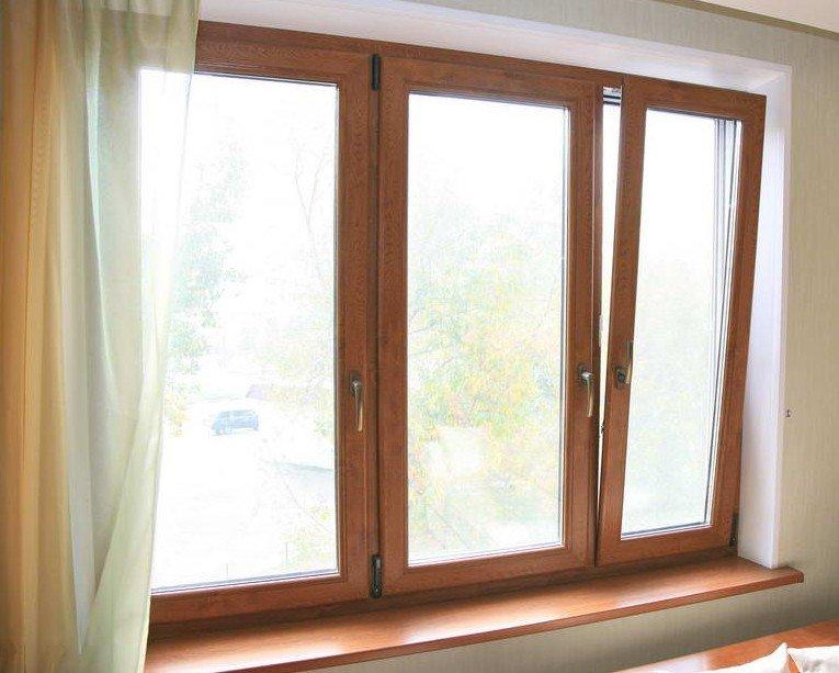 Какие окна лучше ставить в частный дом вопросов и ответы на  Пластиковые рамы оклеены текстурной пленкой под дерево