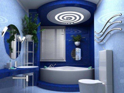 Потолок в ванной должен органично сочетаться с интерьером этого помещения.