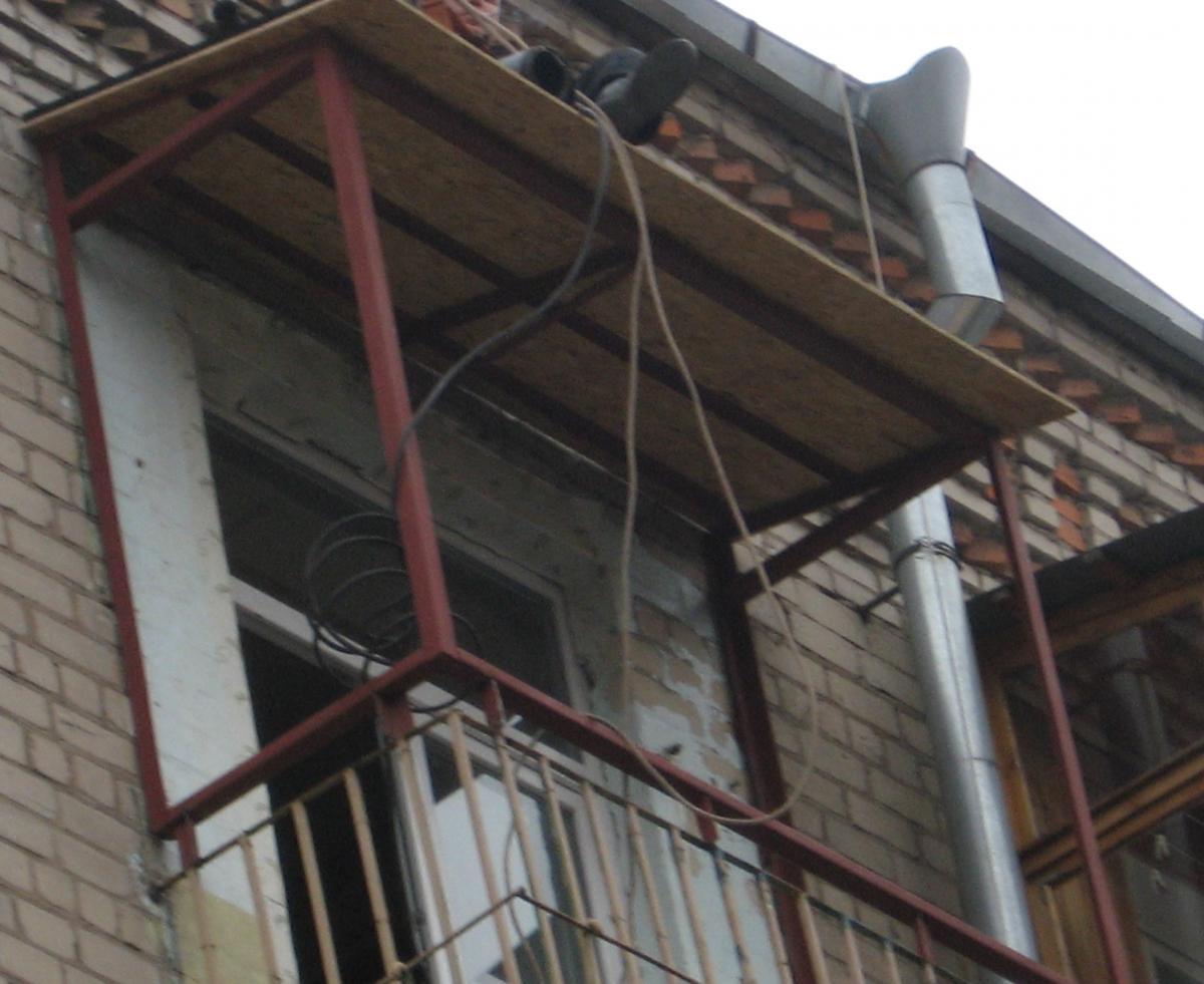 Каркас балкона из профильной трубы
