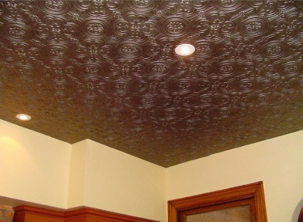 Пример окрашенного потолка