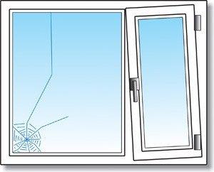 Пример того, как приходит в негодность двухстворчатое ПВХ окно, если размеры створок подобраны неправильно