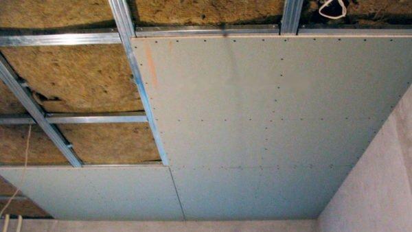 Пример утепления потолка