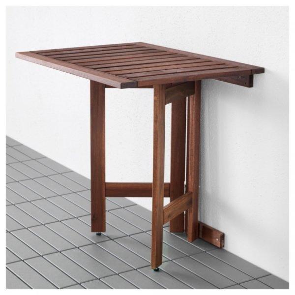 Пристенный столик с выдвижными ножками.