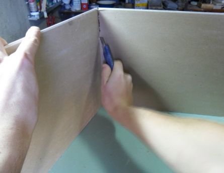 Разрез листа после надлома.