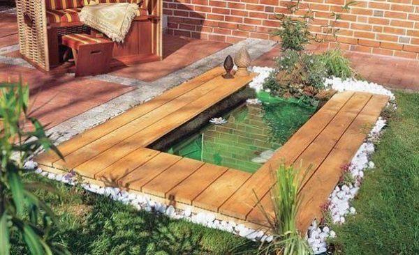 Самодельный водоем на даче