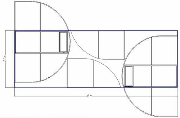 Схема раскроя поликарбонатной панели