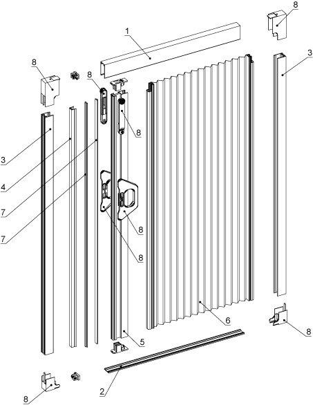 Схема устройства сетки-плиссе