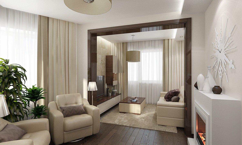 Дизайн гостиной 30 кв.м в частном доме с двумя окнами