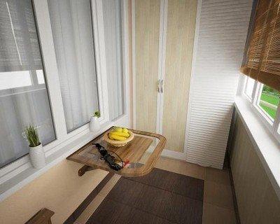 Столешница с верхней стеклянной панелью.