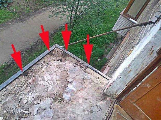 Ремонт плиты балкона своими руками.