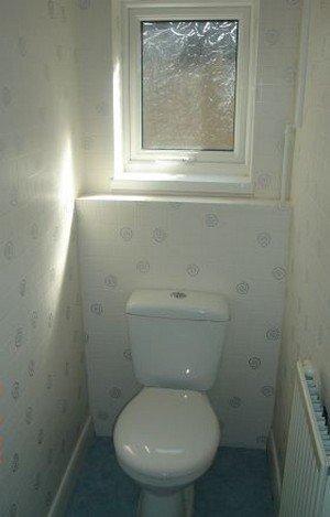 Световое окно в туалете.