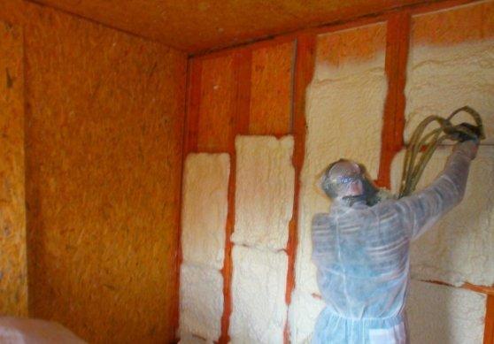 Теплоизоляция стен изнутри.