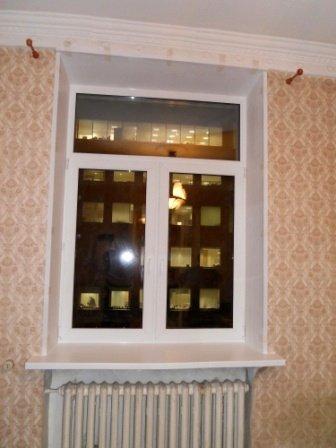 Типичный размер окна в сталинке - 190х150 см. 180х140 сантиметров получится с учетом подоконника и утепления откосов.