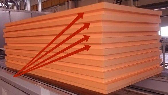 Торцы материала имеют уступ, облегчающий стыковку швов.