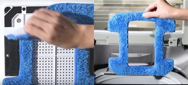 У модели есть два типа очищающих салфеток.
