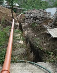 Укладка канализации в частном секторе.