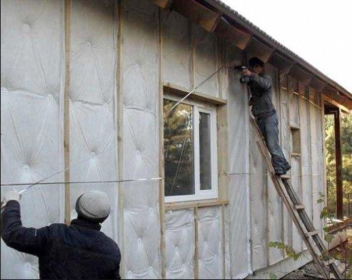 Утепления стен каркасного дома