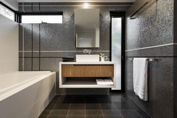 В серой ванной вас вряд ли что-то может раздражать.