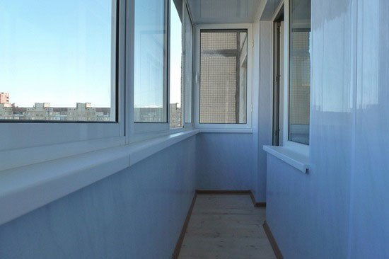 Внутренняя отделка балкона ПВХ