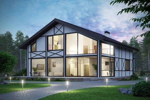 Впрочем, проекты домов с панорамными окнами тоже пользуются огромной популярностью.