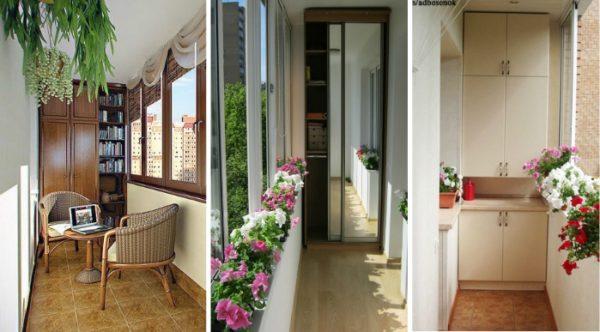 Встроенные стеллажи и шкафы значительно экономят пространство
