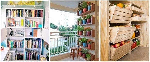 Ящики и ящички на балконе для хранения полезностей