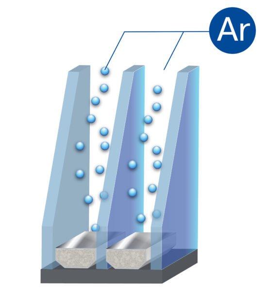 Закачка аргона позволяет снизить теплопотери, но удорожает конструкцию