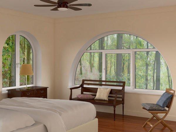 Арочные решения с большим и средним диаметром в одной комнате