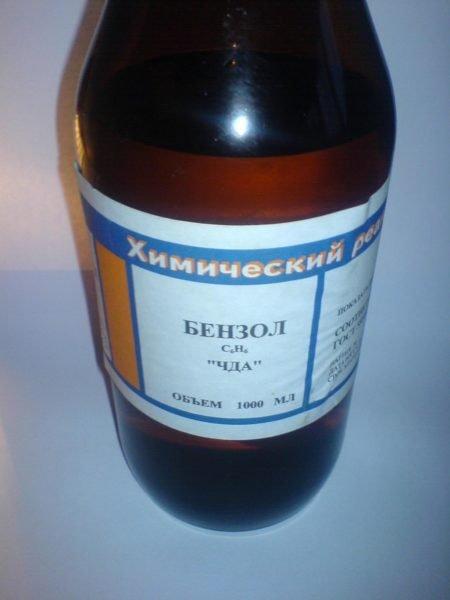 Бензол входит в состав универсальной шпаклевки