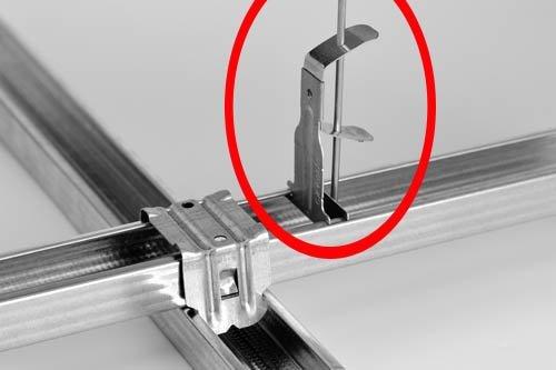 Благодаря форме конструкции подвес надежно держится без саморезов